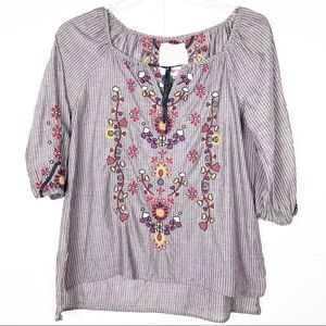 JohnnyWas 3J Workshop | Embroidered Peasant Blouse